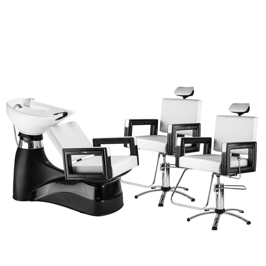 Combo  Lavatório Porcelana + Cadeira Square Reclinável Dompel