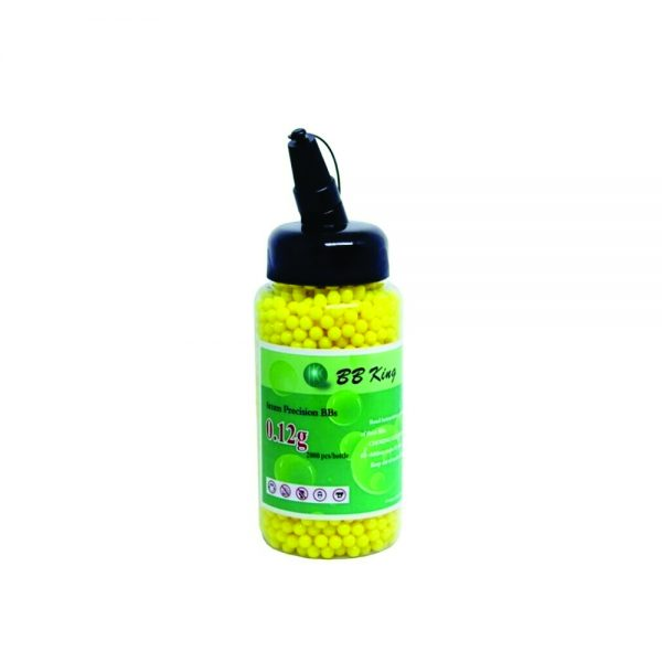 Esfera Plast Airsoft Bbk 0,12g Amarela (2000un)6mm