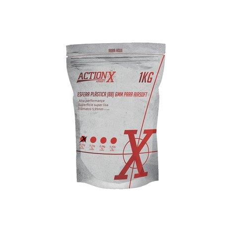 Esfera Plast ActionX 0,28g Branca (3.600 UN) 6mm