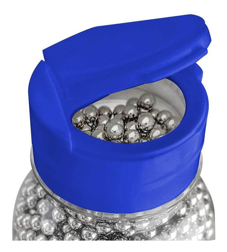 Municao BBs Esfera Metal Aco Niquel 4.5mm Leao - 1700 und
