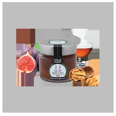 Geleia de Figo Nozes e Rum
