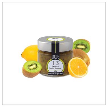 Geleia de Kiwi com Limão Siciliano