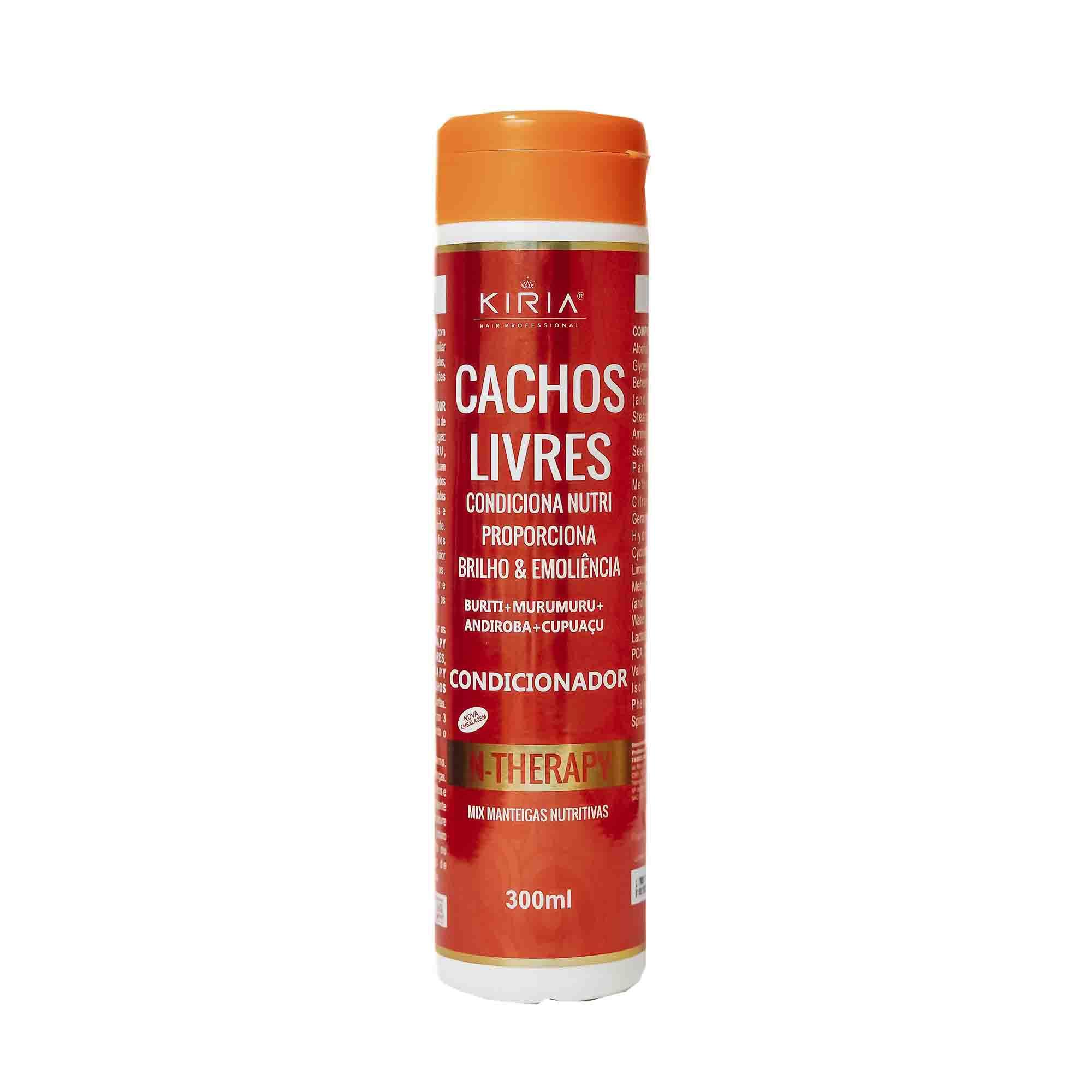 CONDICIONADOR CACHOS LIVRES COM MIX DE MANTEIGAS NUTRITIVAS - 300ML