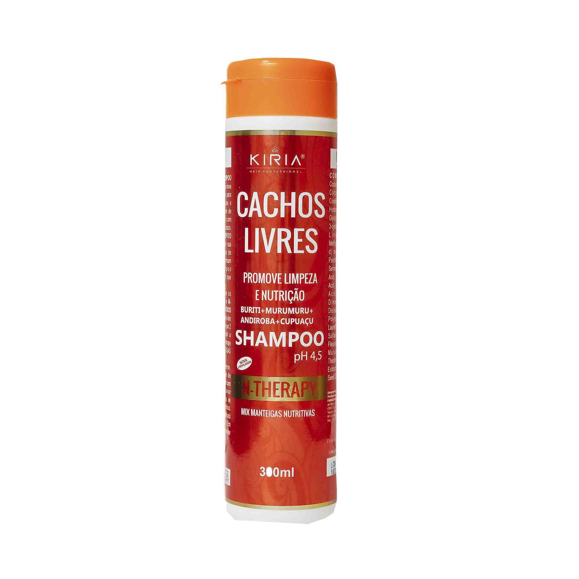 SHAMPOO CACHOS LIVRES COM MIX DE MANTEIGAS NUTRITIVAS - 300ML