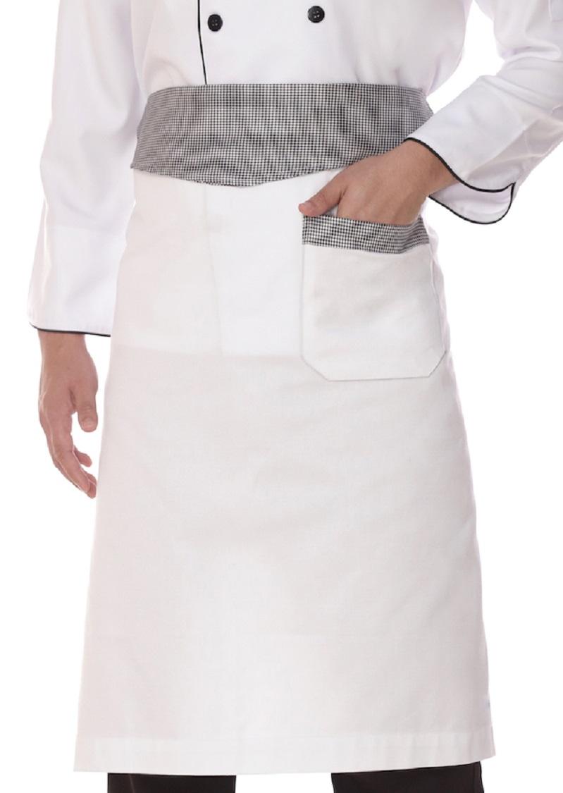 Avental De Cintura Gastronomia Chef Algodão Branco