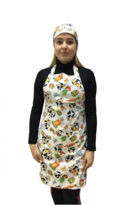 Avental de cozinha estampa Vaquinhas
