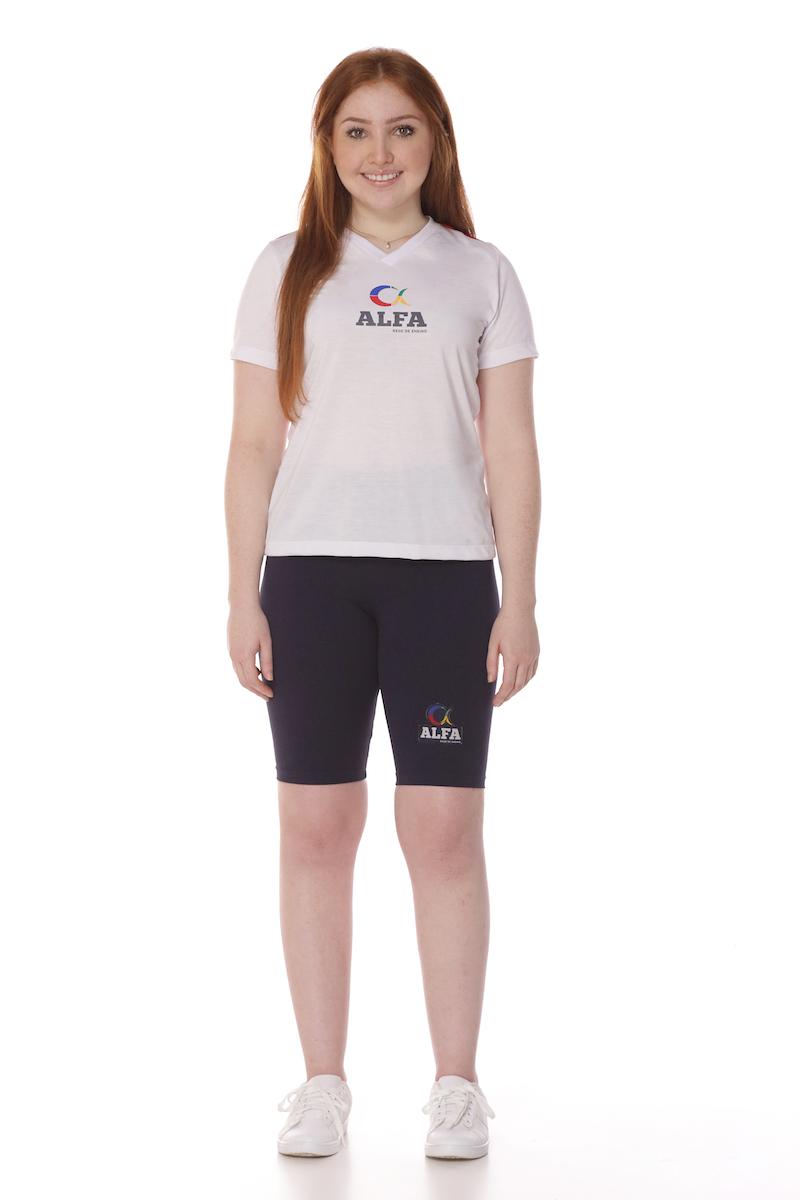 Camiseta Feminina Branca Colégio Alfa Tesla