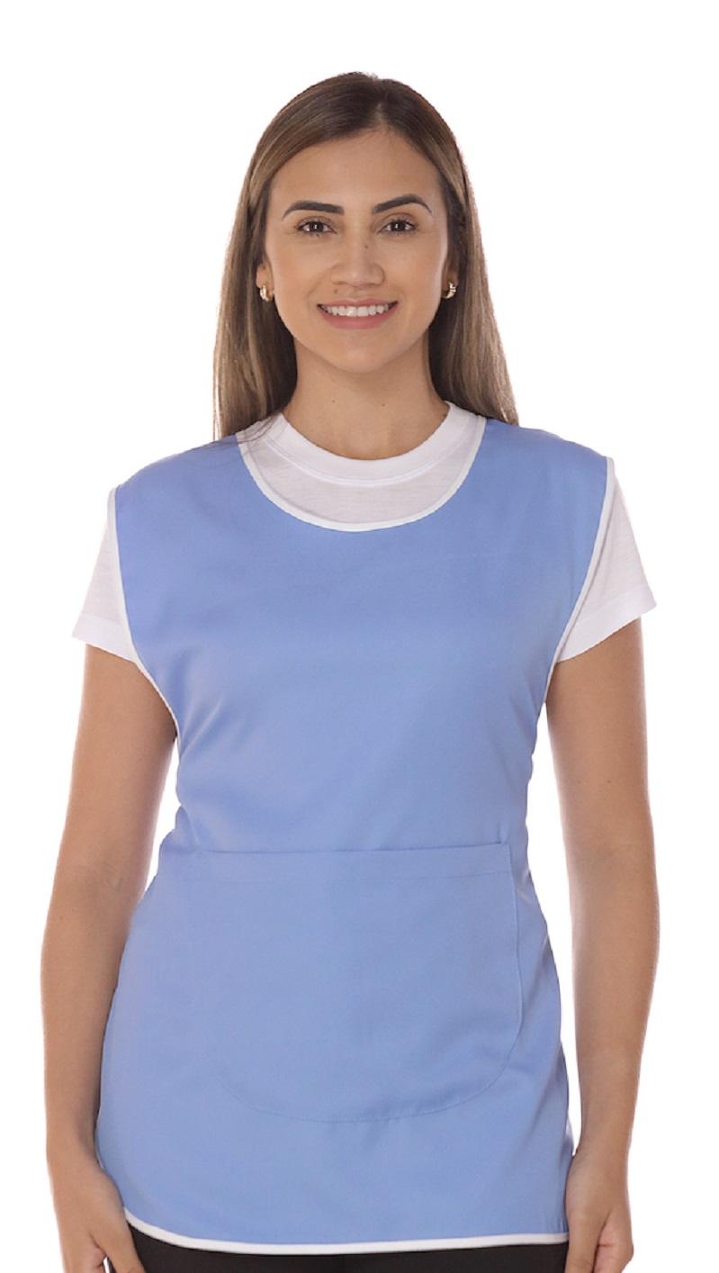 Avental De Limpeza Azul Celeste Feminino