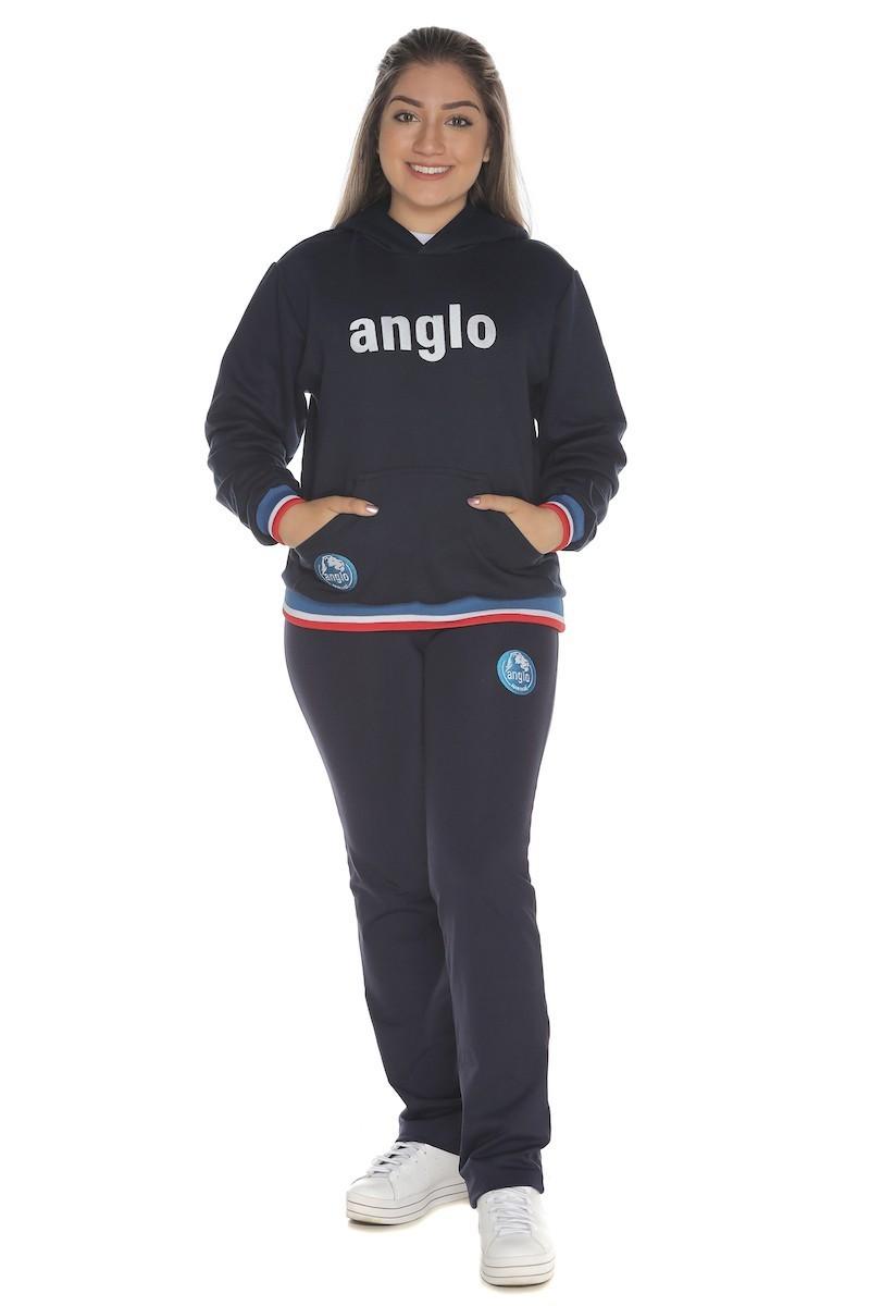 Blusa Moletom com Capuz Colégio Anglo
