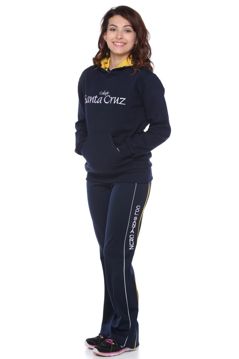Blusa Moletom Flanelado Com Capuz Colégio Santa Cruz