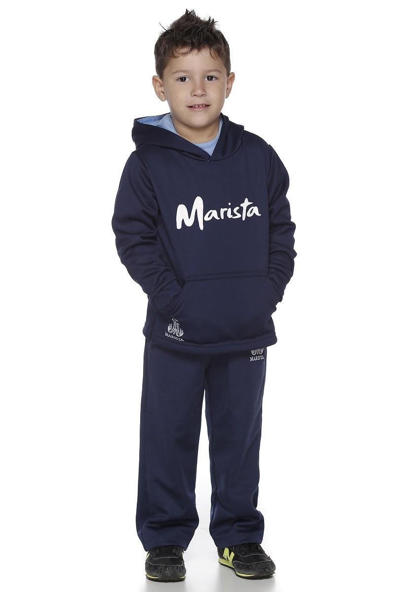 Blusão Moletom Flanelado Com Capuz Masculino - Colégio Marista Infantil