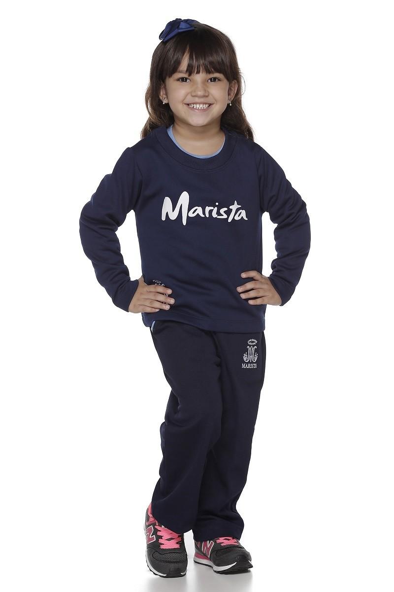 Blusão Moletom Flanelada Feminina - Colégio Marista Infantil