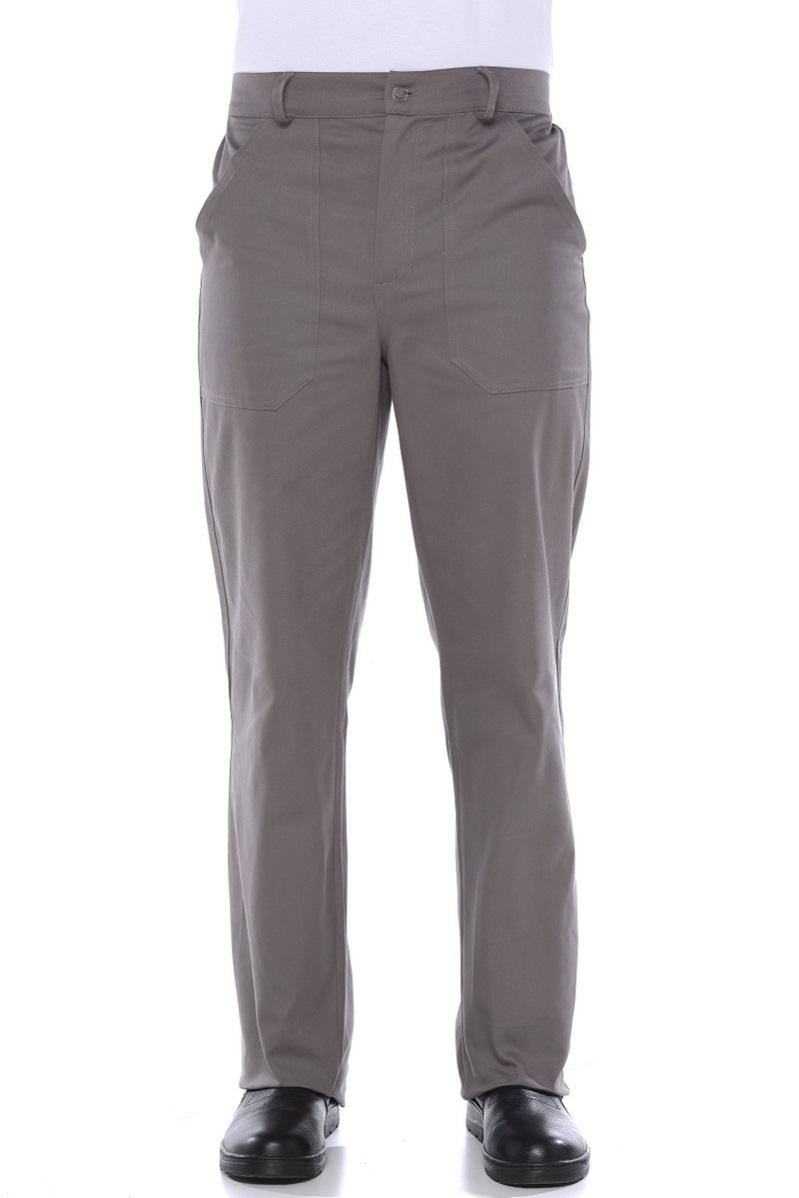 Calça Brim Masculina 1/2 elastico Cinza Chumbo - Uniforme Operacional