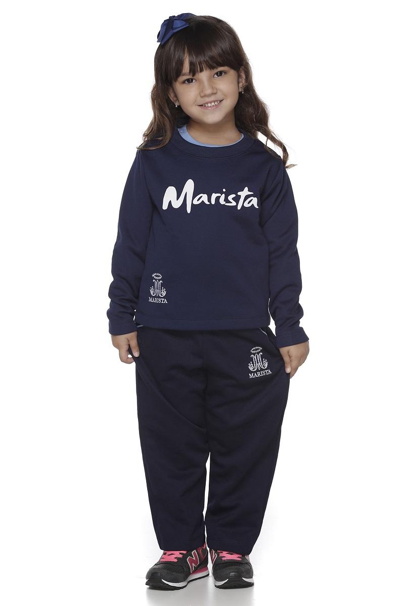 Calça Malha Colegial Feminina Colégio Marista Infantil