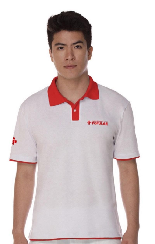 Camisa Manga Curta Gola Polo Masculina Piquet