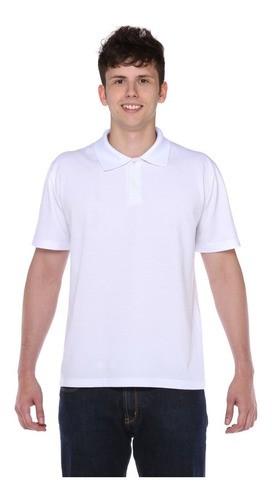 Camisa Gola Polo Branca Piquet Pa Masculina