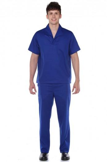 Camisa Manga Curta Italiana Brim 100% Algodão Masculina