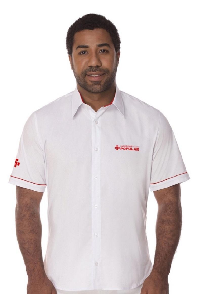 Camisa Manga Curta Social Masculina
