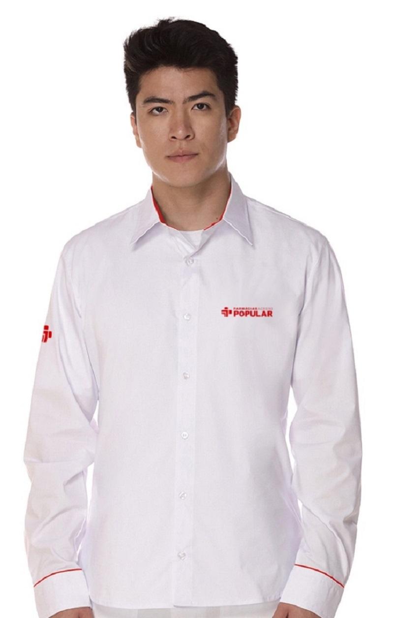 Camisa Manga Longa Social Masculina