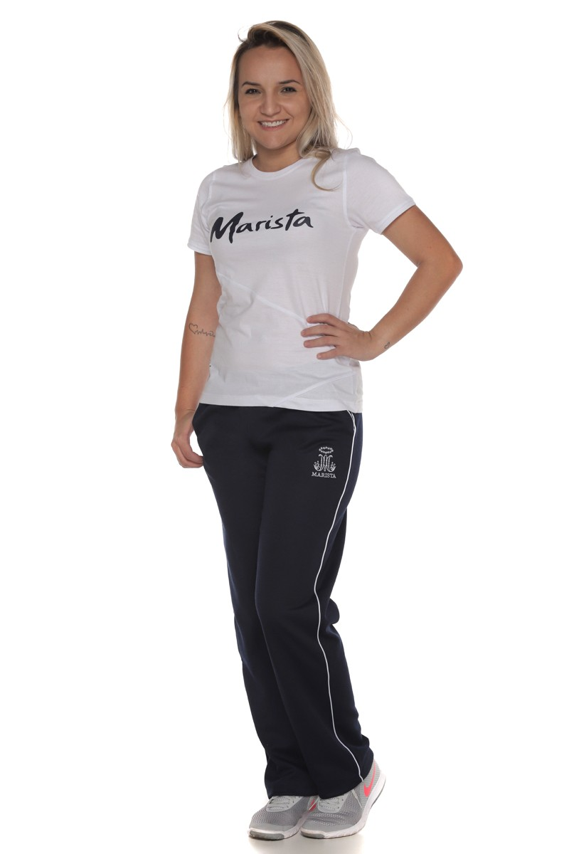 Camiseta Baby Look Malha Algodão - Colégio Marista