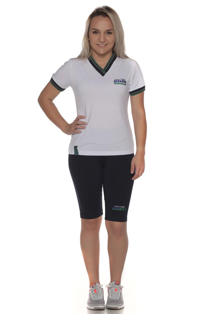 Camiseta Baby Look Malha PV - Colégio Dom Bosco
