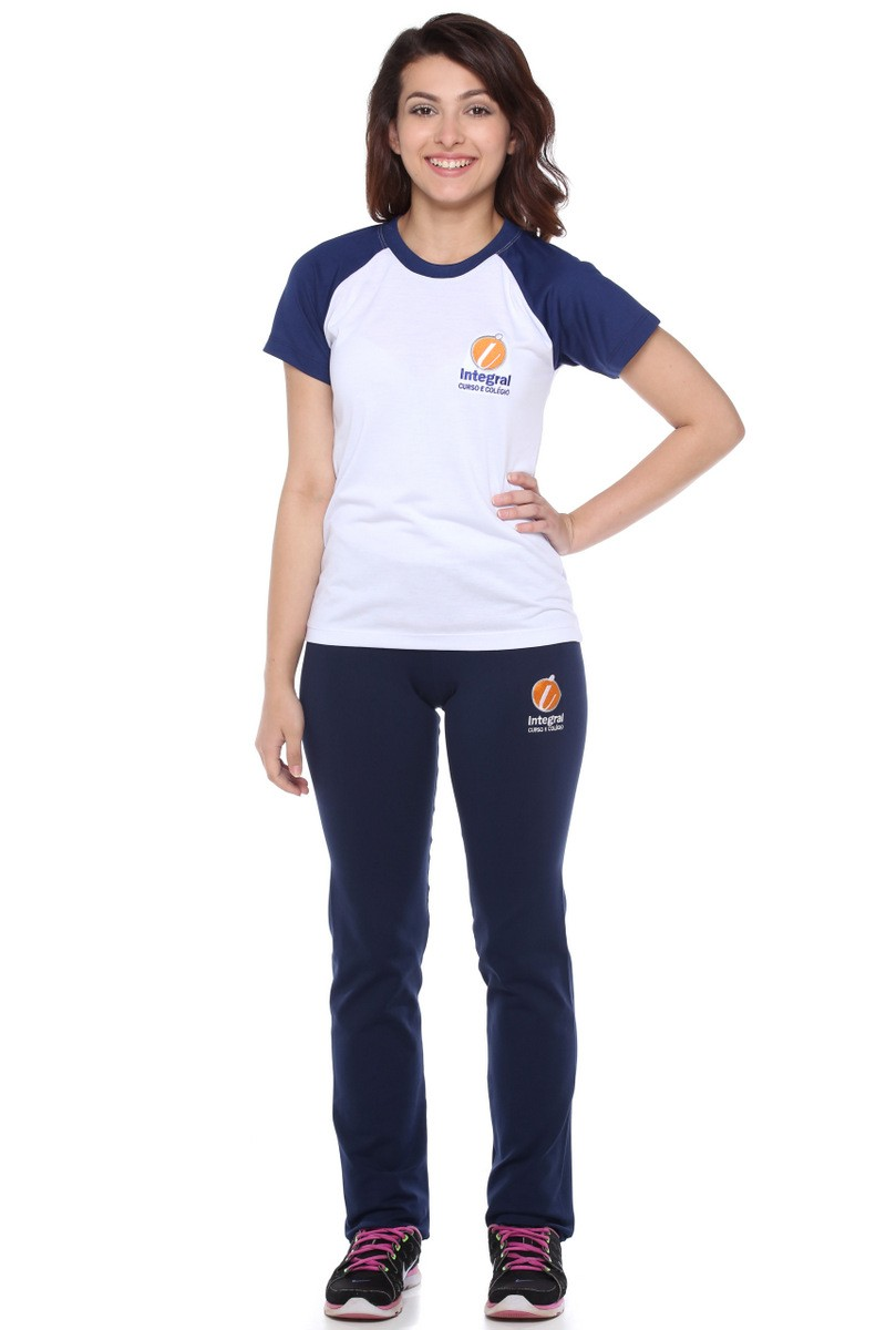 Camiseta Baby Look Malha PV - Colégio Integral