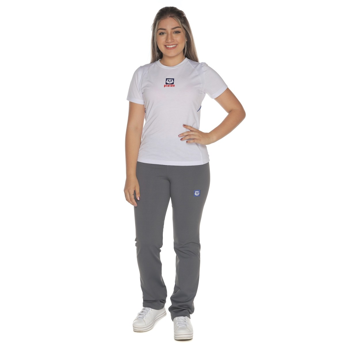 Camiseta Baby Look Malha PV - Colégio Platão