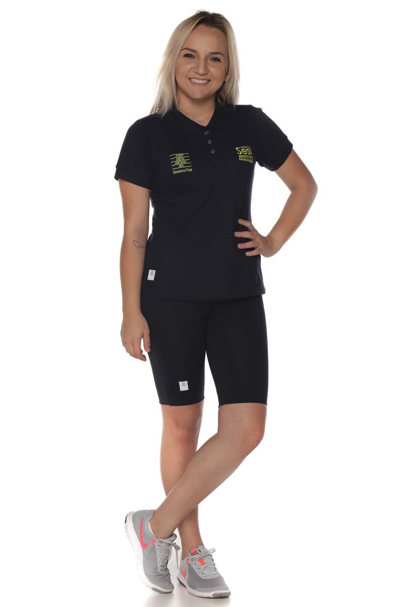 Camiseta Baby Look Polo Piquet - Sesi Internacional