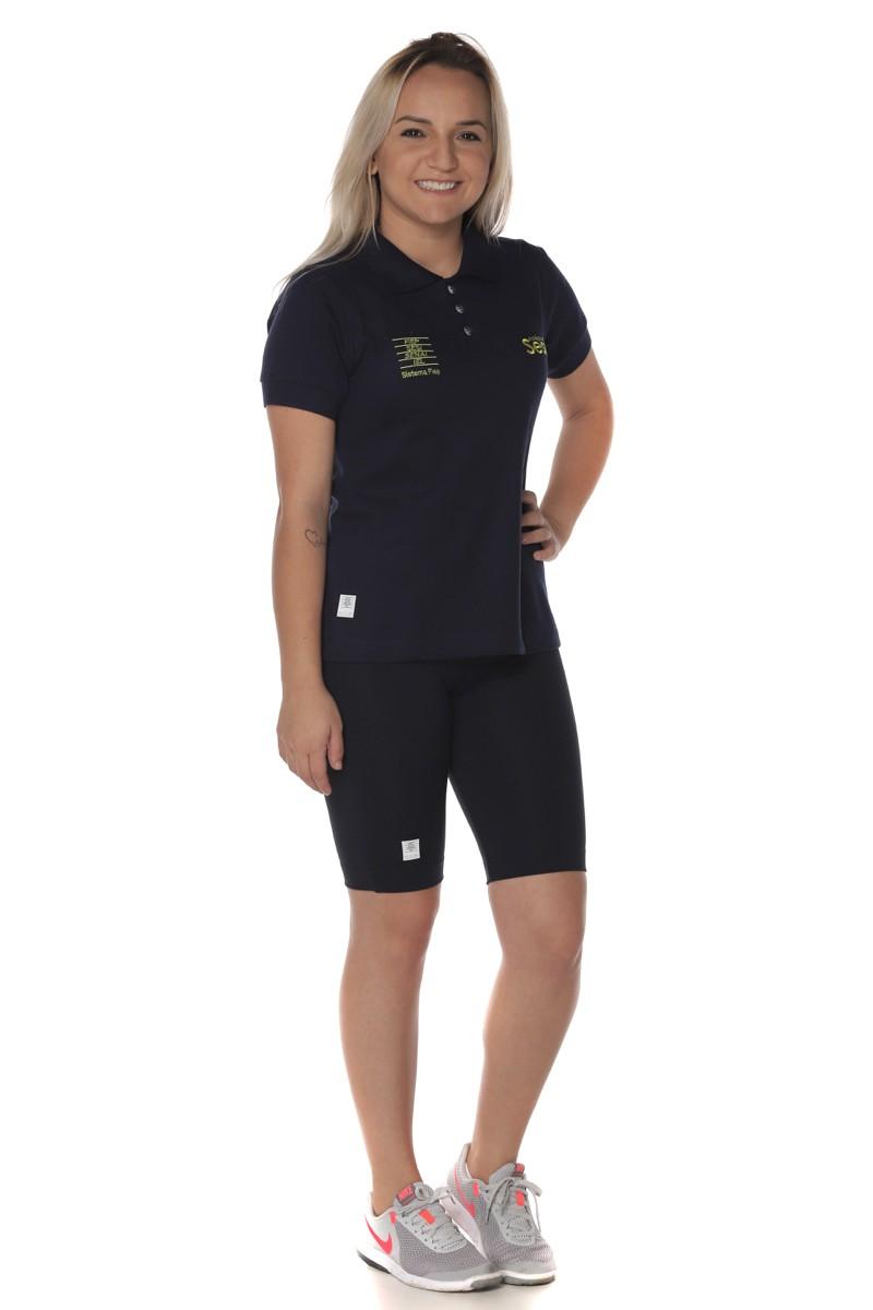 Camiseta Baby Look Polo Piquet - Sesi Regular