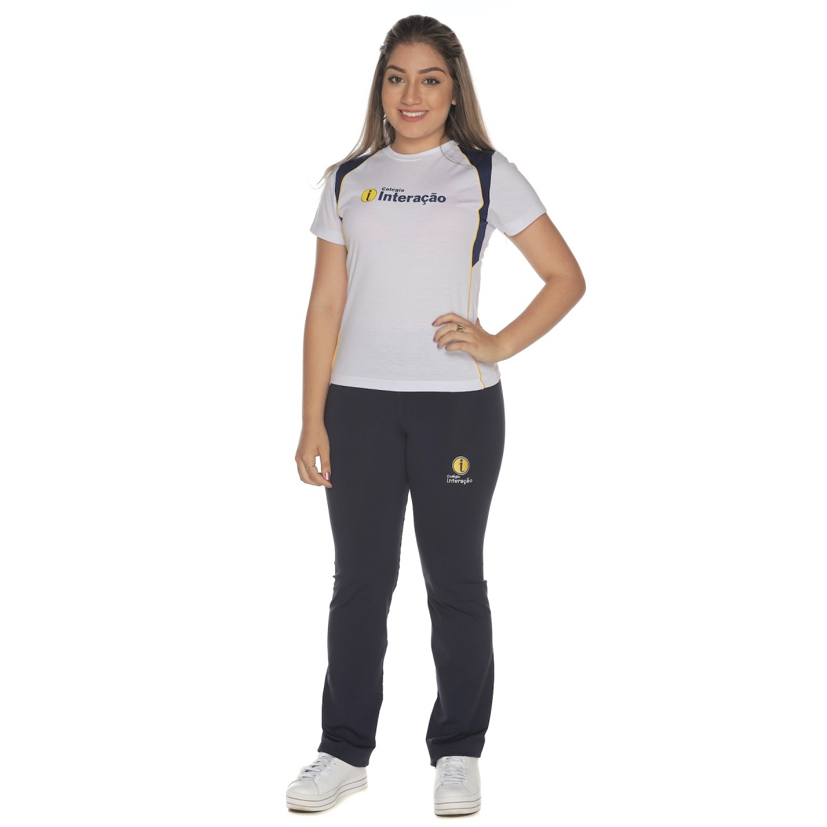 Camiseta Baby Look Malha PV - Colégio Interação