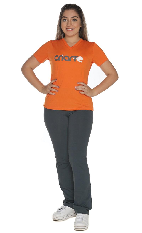 Camiseta Feminina Laranja Colégio Criarte