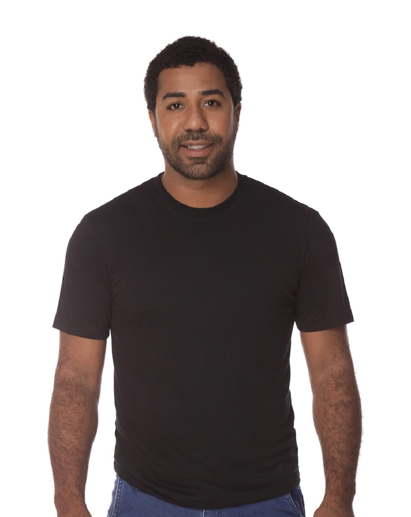 Camiseta Manga Curta Preta PV Malha Fria Masculina