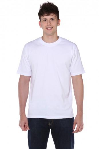 Camiseta Manga Curta Branca 100% Poliéster Masculina