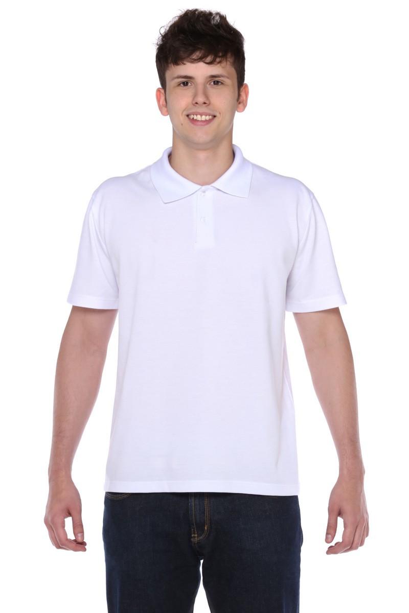 Camiseta Manga Curta Gola Polo Branca Piquet Masculina