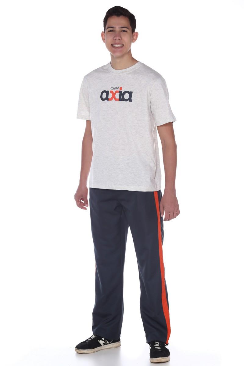 Camiseta Manga Curta Algodão Colégio Axia
