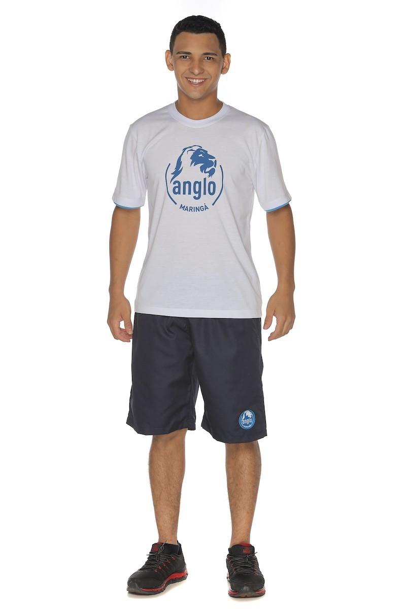 Camiseta Manga Curta Malha PV - Colégio Anglo