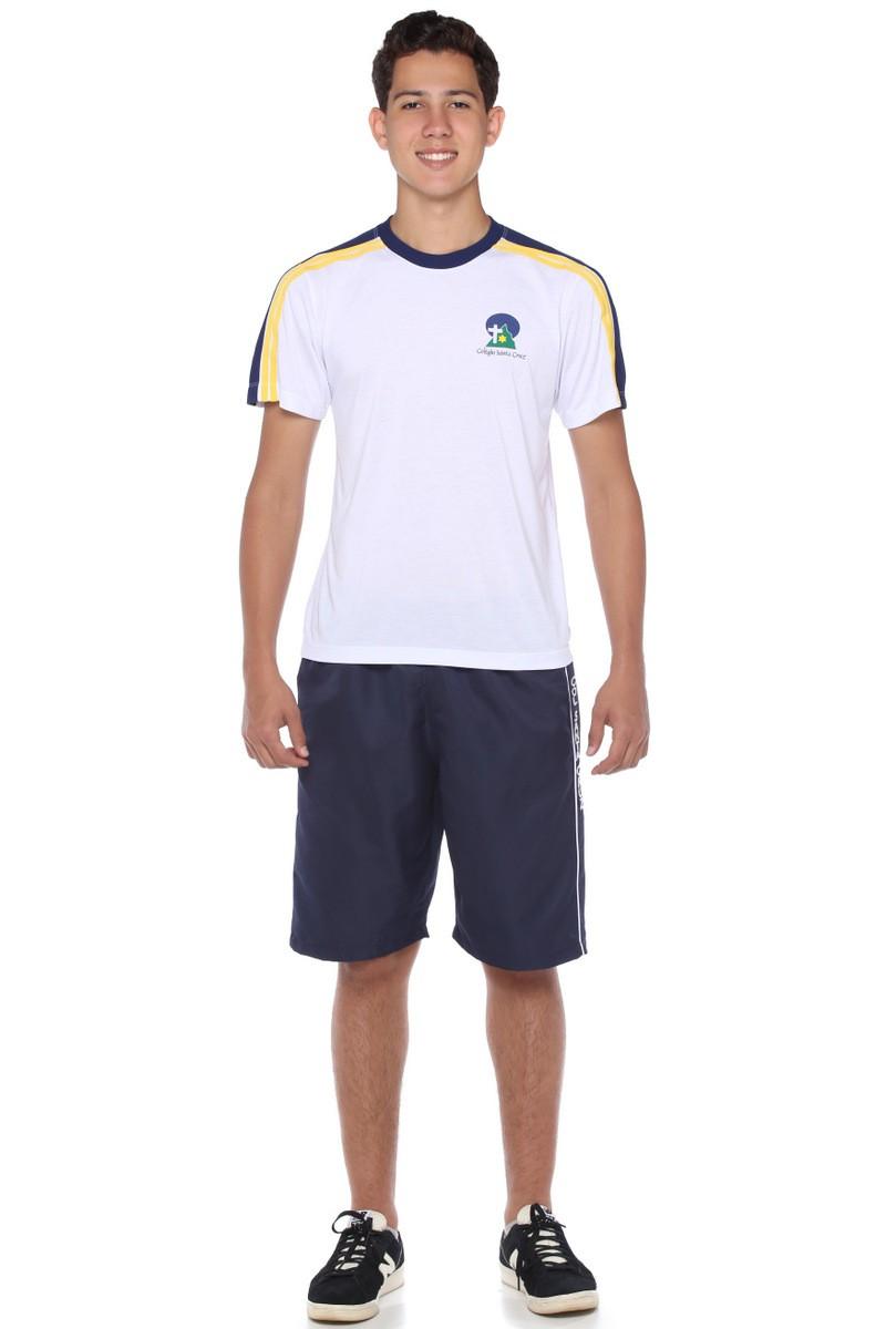 Camiseta Manga Curta Malha PV - Colégio Santa Cruz