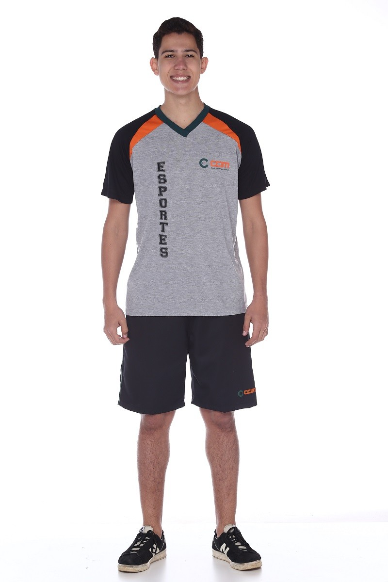 Camiseta Manga Curta Malha PV Esportes - Colégio CCIM