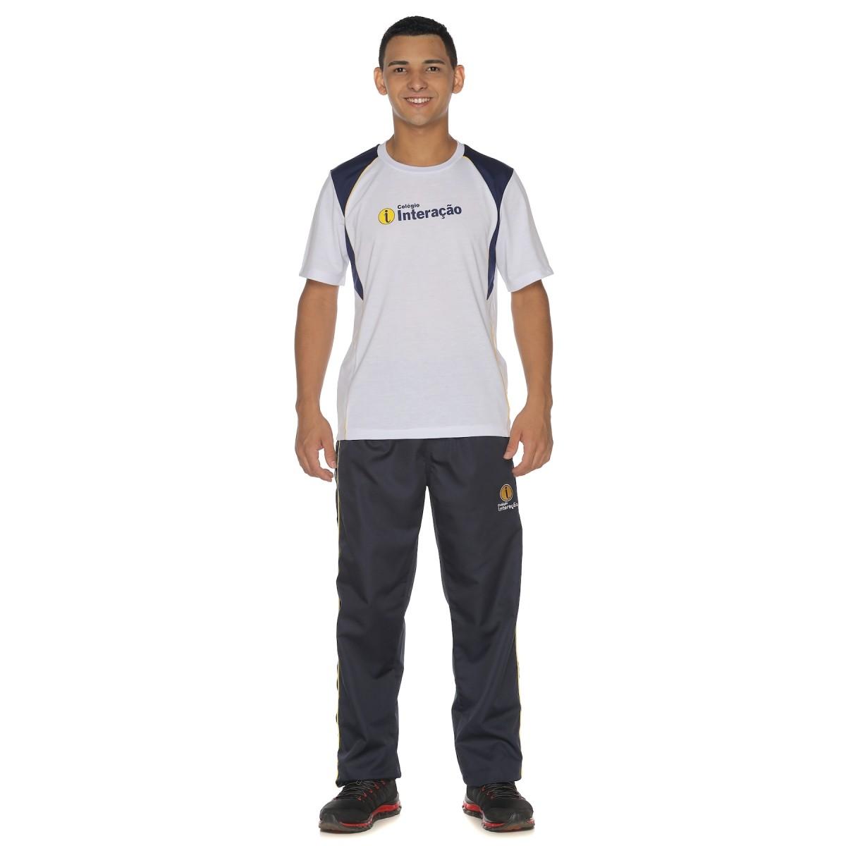 Camiseta Manga Curta Malha PV - Colégio Interação