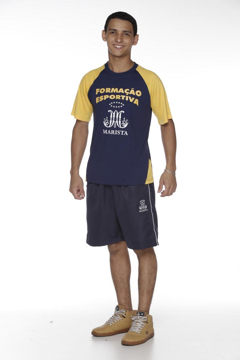 Camiseta Manga Curta Malha PV Modalidades - Colégio Marista