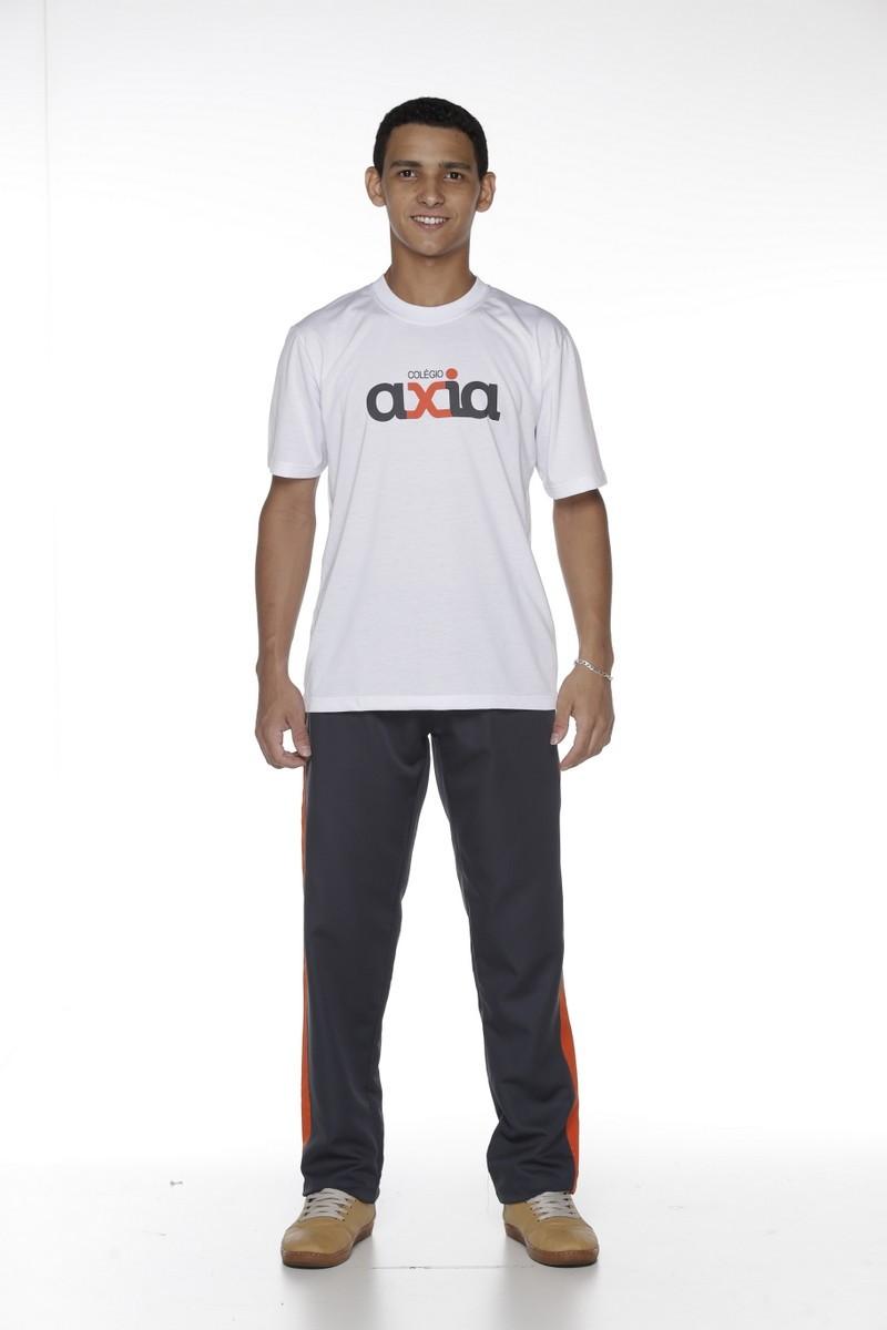 Camiseta Manga Curta na Malha PV - Colégio Axia