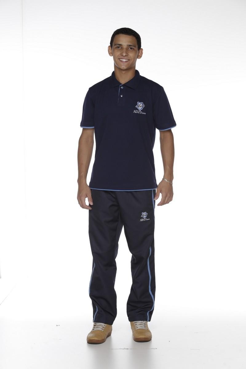 Camiseta Manga Curta Polo - Colégio Notre Dame