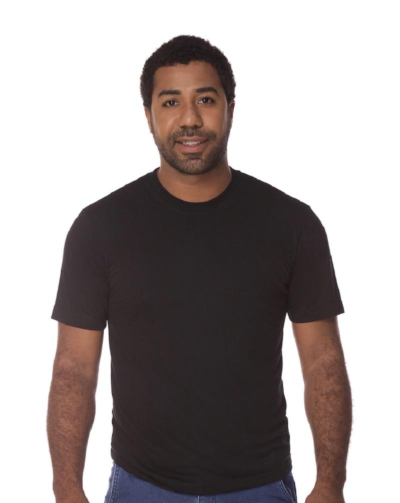 Camiseta Manga Curta Preta Fio 30 100% Algodão  Masculina