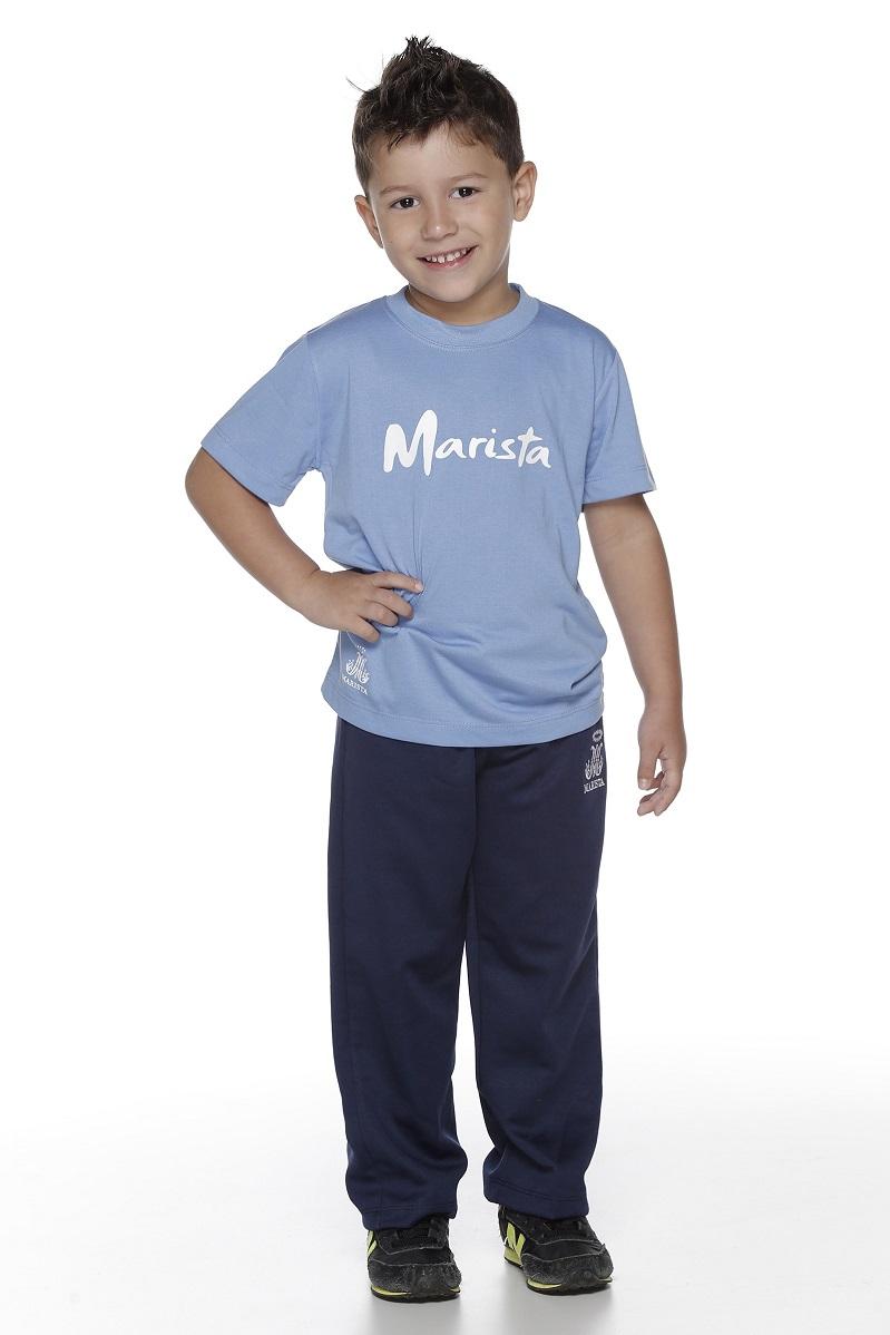 Camiseta Manga Curta PV Colégio Marista Infantil