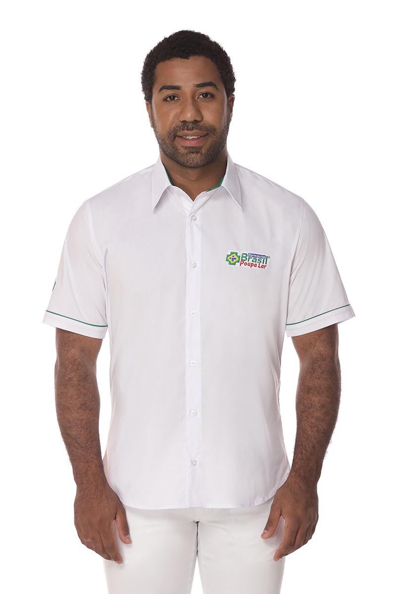 Camiseta Manga Curta Social Masculina