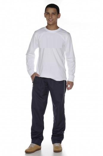 Camiseta Manga Longa Branca Fio 30 100% Algodão