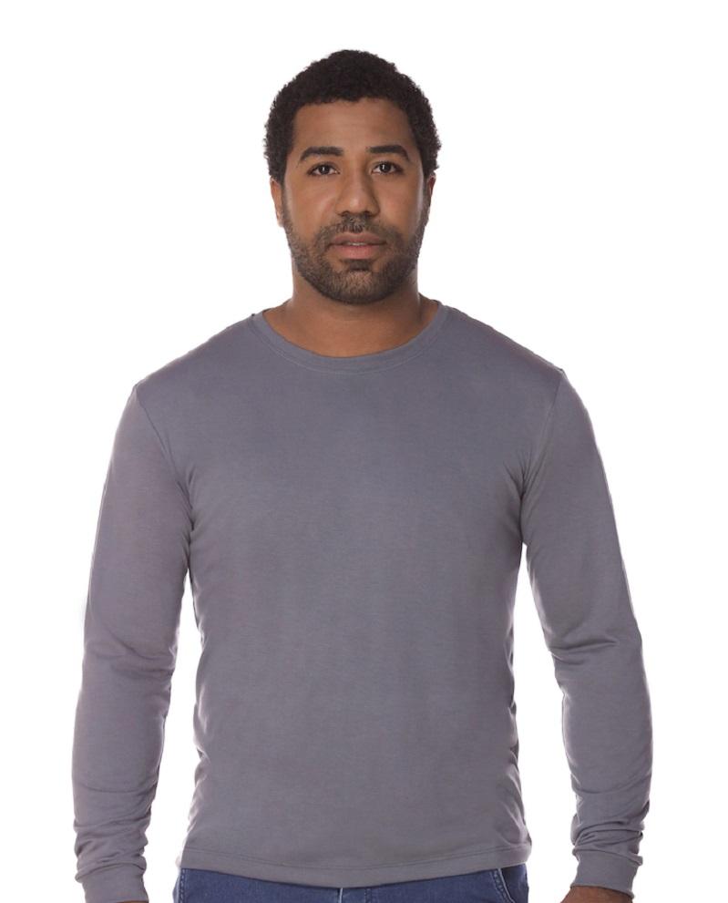 Camiseta Manga Longa Chumbo PV Malha Fria Masculina