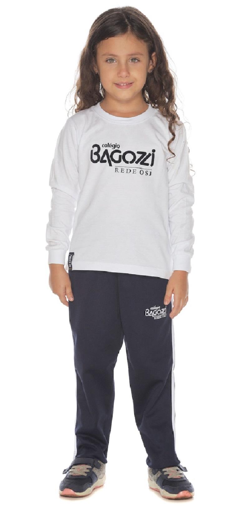 Camiseta Manga Longa Colégio Bagozzi