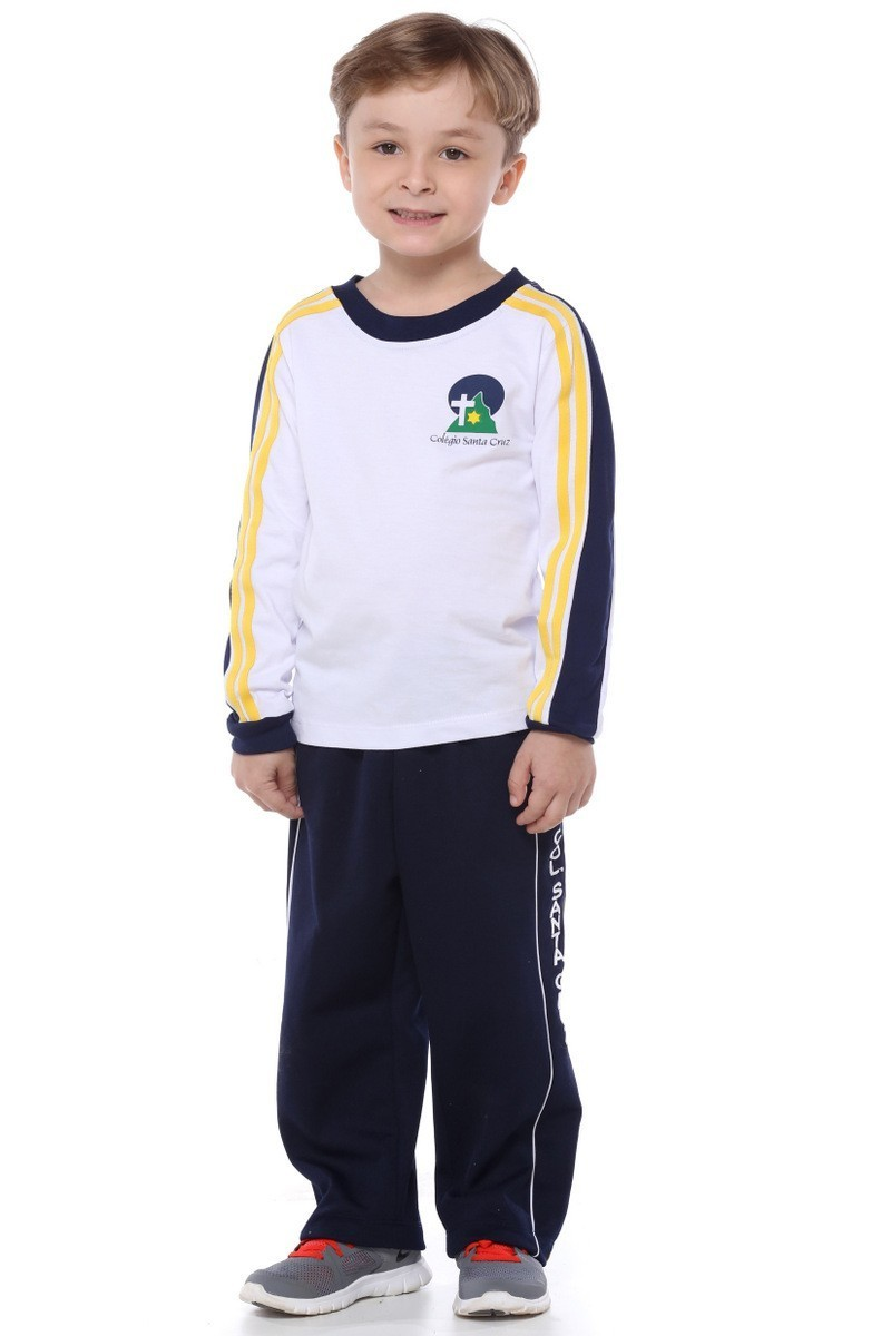 Camiseta Manga Longa Malha Algodão - Colégio Santa Cruz