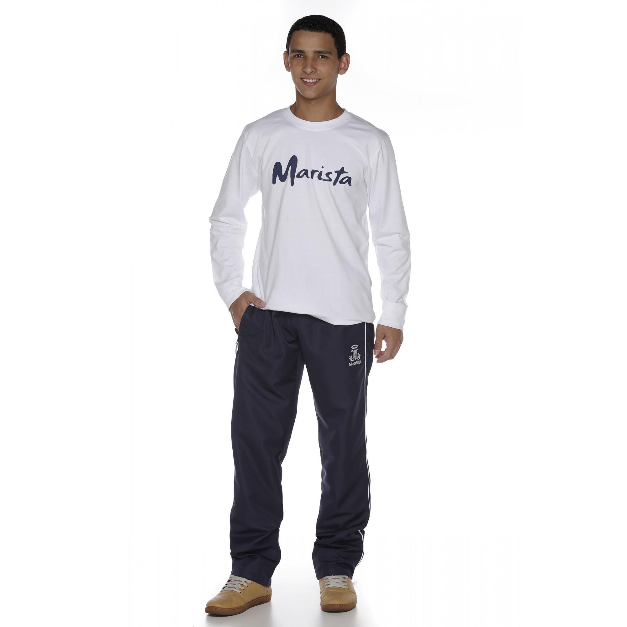 Camiseta Manga Longa Masculina Malha Algodão - Colégio Marista
